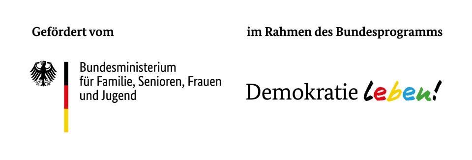 "Logo inside.out wird als Modellprojekt gefördert durch das Bundesprogramm ""Demokratie leben!"" des BMFSFJ."